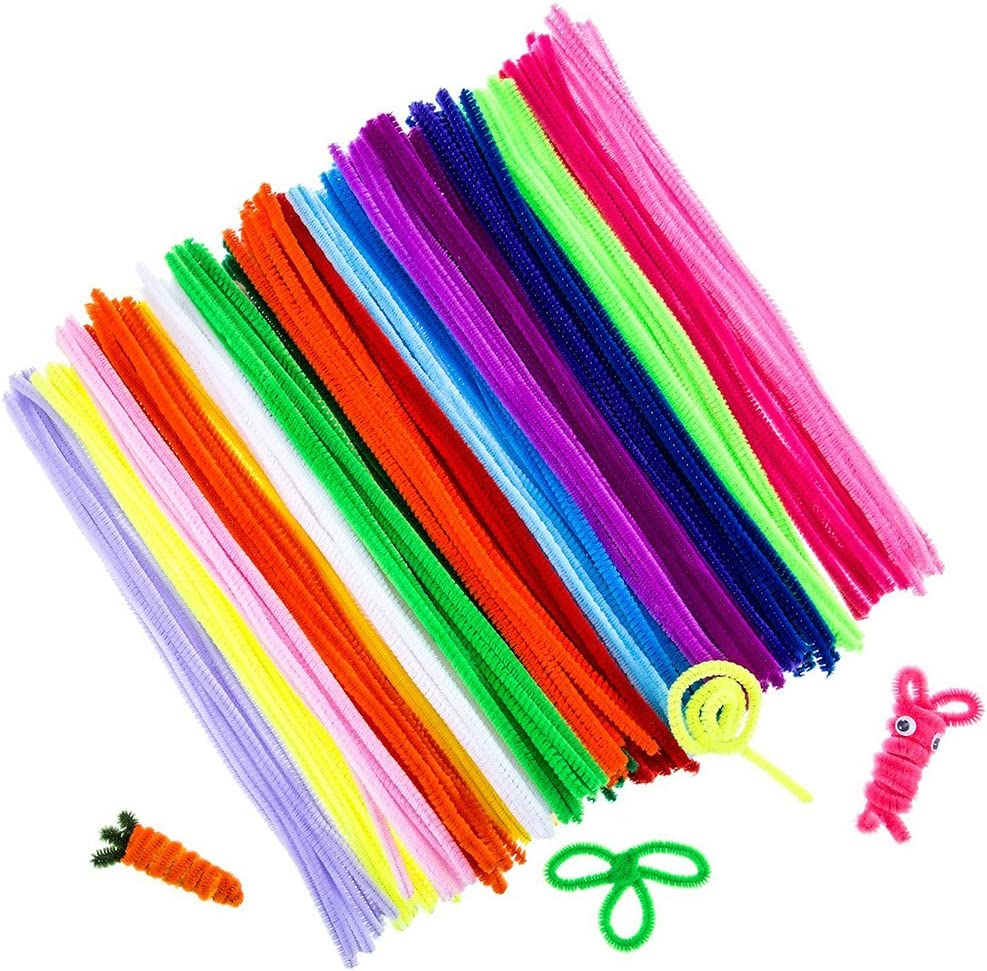 in filo di ciniglia Kentop colori assortiti Set di 100 pulitori per pipa fai da te