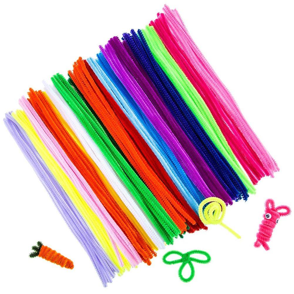 100 x DA. WA Colorful Pfeifenreiniger Chenille Stiel für Kunst und ...