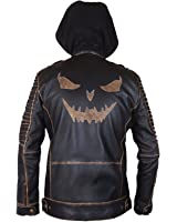 Suicide Squad Jared Leto Joker Killing Hooded Leather Jacket- Perfect Halloween Costume- 4XL
