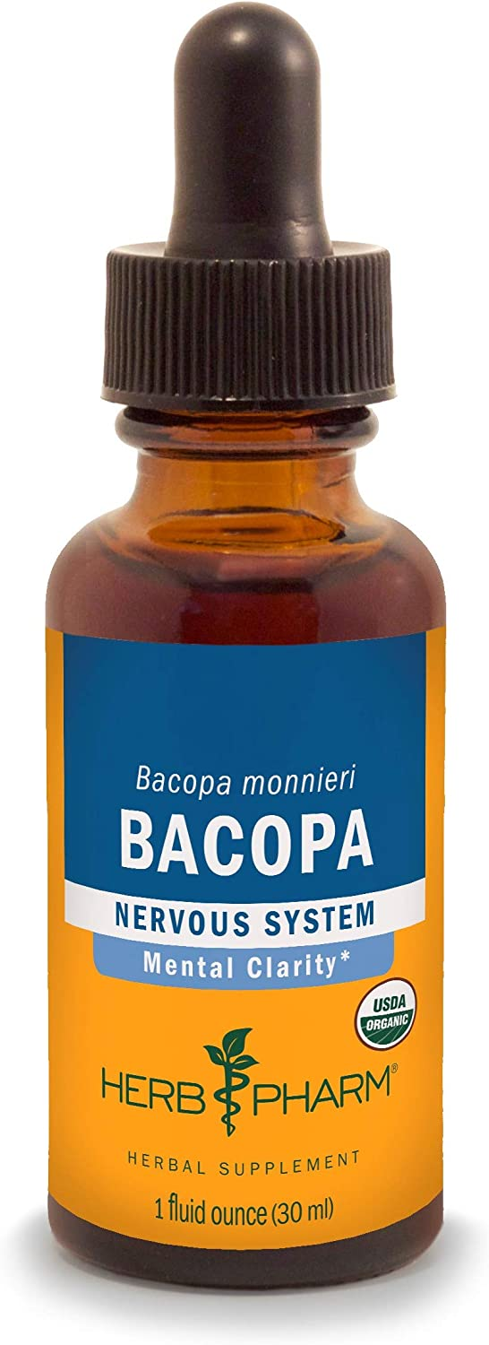 Herb Pharm Certified Organic Bacopa Liquid Extract for Brain Support - 1 Ounce