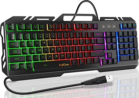 Cool Backlit Keyboard//Notebook Desktop Computer Wired USB Out Interface Keyboard DR Mechanical Gaming Keyboard Color : E RGB Backlight Computer Accessories
