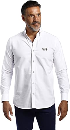 THE TIME OF BOCHA Camisa Hombre Lisa Blanco: Amazon.es: Ropa ...