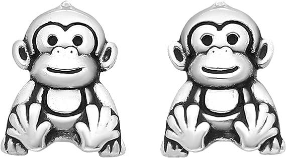 Monkey Stud Earrings Small Brown Monkey Earrings Vintage Earrings Novelty Earrings