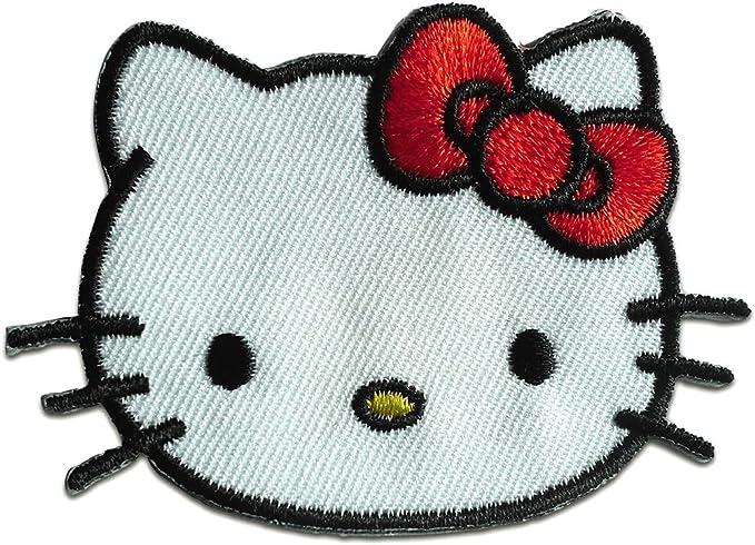 Parches - Hello Kitty cabezaComic niños - blanco - 7x4,7cm ...