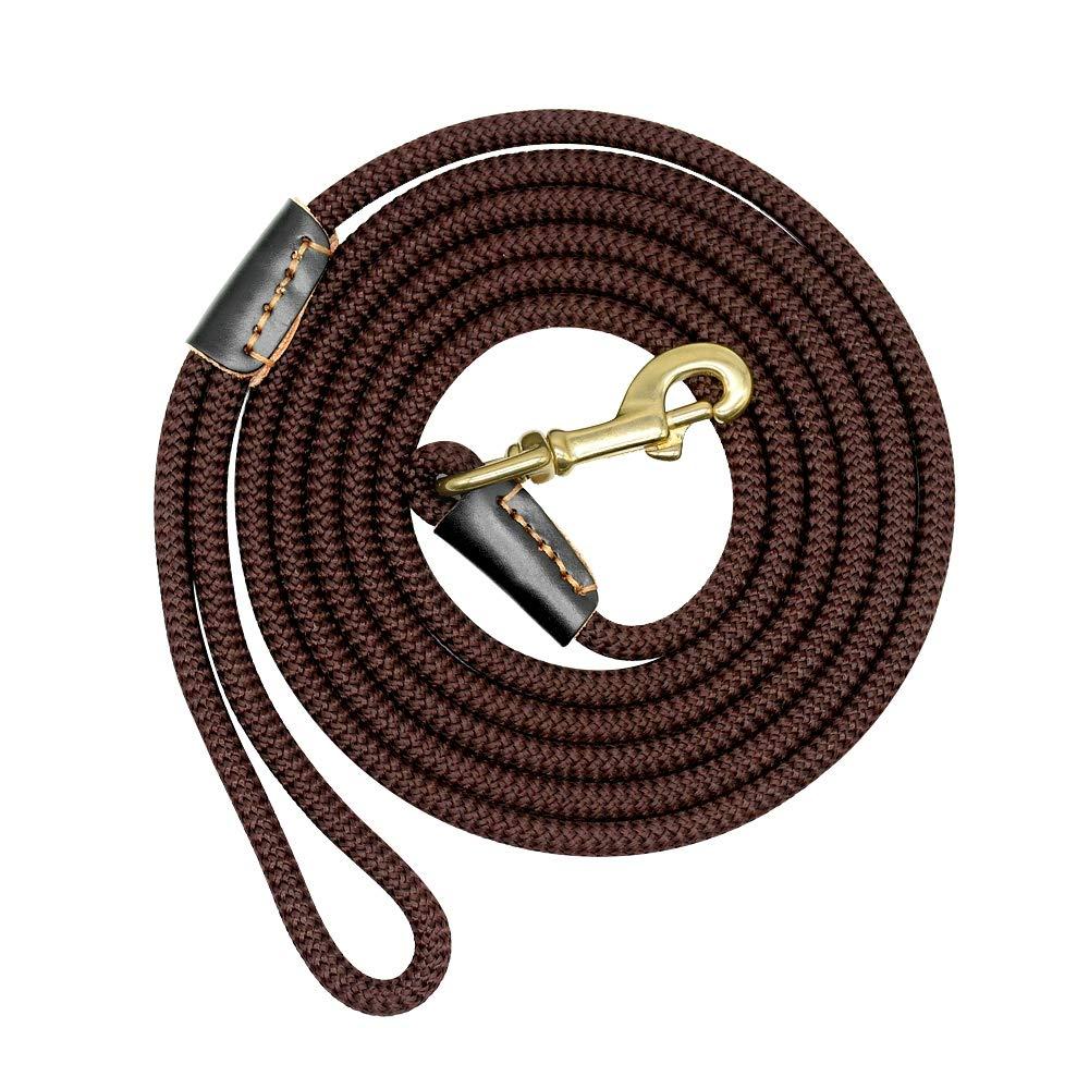 CYXYX Durable Dog Leash Nylon Long Leads Rope Pet Training Walking Leashes 3M 5M 10M 20M for Medium Large Dogs Non-Slip,S