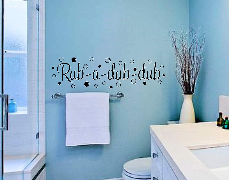 Amazon Com Best Design Amazing Rub A Dub Dub Kids Bathroom Wall Decor Kids Bathroom Wall Art Bathroom Wall Vinyl Decal Wall Decal Quotes Bathroom Decor Bubble Wall Art Made In Usa Kitchen Dining,Sherwin Williams Poised Taupe Bathroom