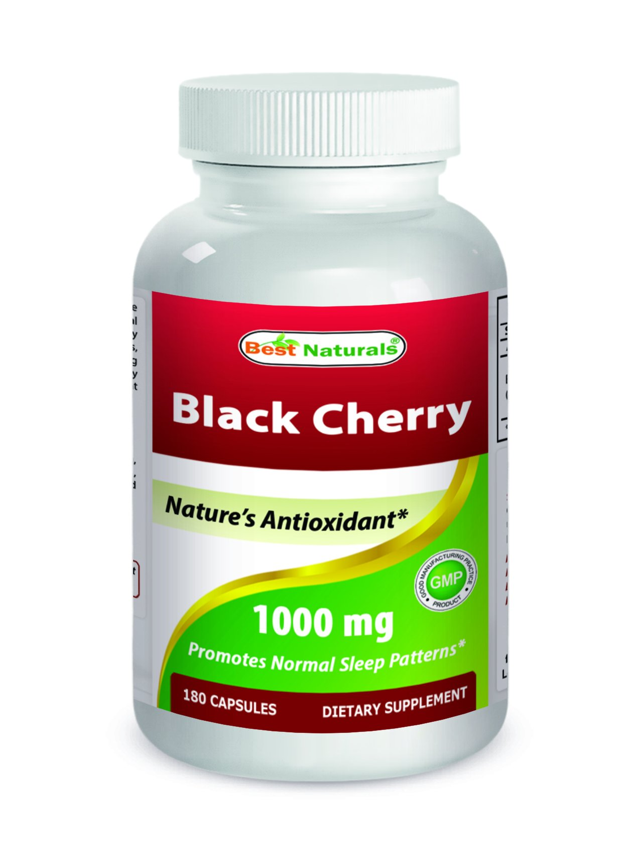 Best Naturals Black Cherry 1000 Mg Capsule, 180 Count