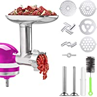 Meat Grinder Attachments for KitchenAid Stand Mixer, Home Use Metal Food Grinder Accessories,Meat Mixer Attachment, with…