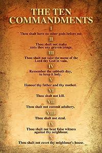 The Ten Commandments Religion Religious Bible 10 Commandments Cool Wall Decor Art Print Poster 24x36