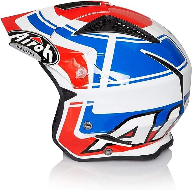 Vintage Blue Airoh TRR S Open Face Trials Motocross ATV Enduro Off Road Helmet