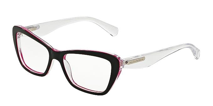 371442bc30 gafas de ver Dolce & Gabbana 3194 Black Fuchsia Cuadrado: Amazon.es ...