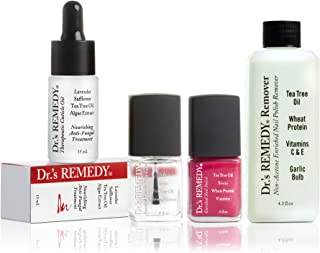 product image for Dr.'s REMEDY, Anti-Fungal START To FINISH Kit With TOTAL Two-In-One, REMEDY Remover, Therapeutic Cuticle Oil and CLARITY Coral