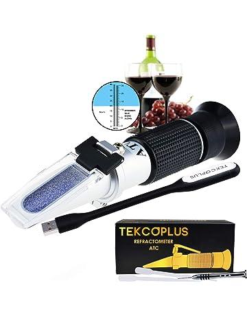 Óptica Refractómetro De Vino De Uva Con ATC 0-25% Vol Y Alcohol Y