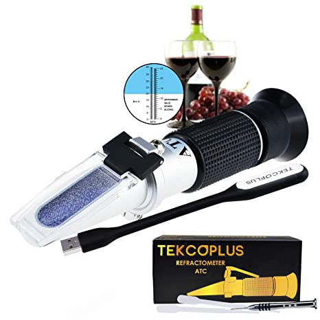 Optics Grape Wine Refractometer With Atc Dual Scale 0 25 Vol And