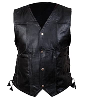 78535b3f4 Angel Wings, Original Leather Vest with Walking Dead Characteristic ...