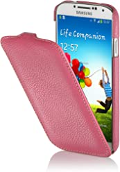 StilGut UltraSlim Case, Custodia in Vera Pelle per Samsung Galaxy S4 i9500, Rosa