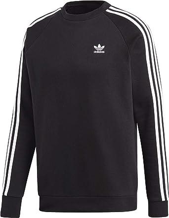 ffbdd40f1 adidas Men's 3-stripes Crewneck Sweatshirt: Amazon.co.uk: Clothing