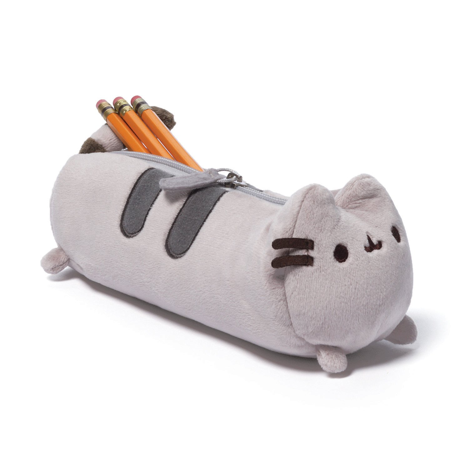 GUND Pusheen Stuffed Plush Accessory Pencil Case, Gray, 8.5""