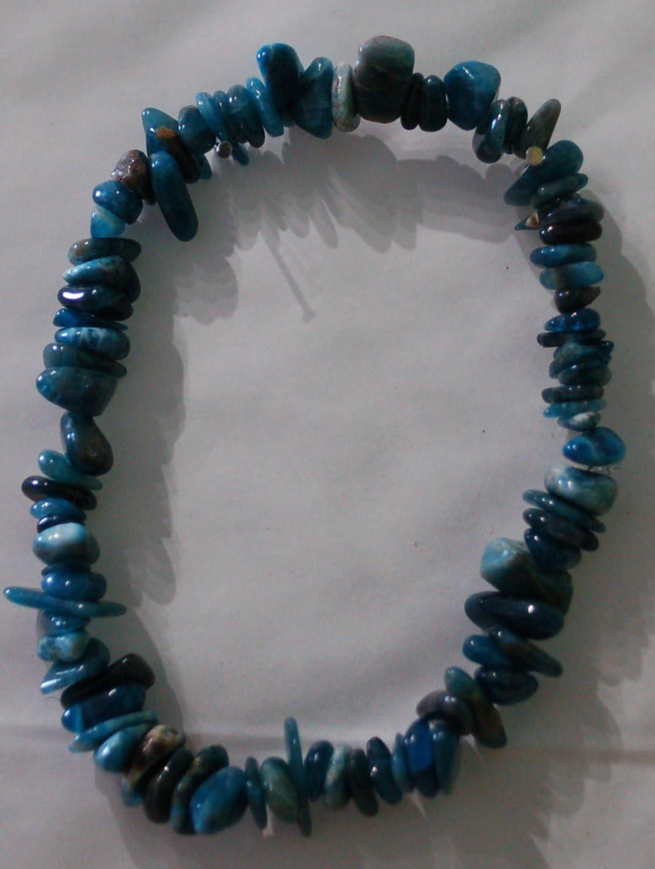 perle de cristal pour supprimer l/'app/étit Bracelet th/érapeutique en apatite bleue