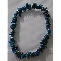 Bracelet thérapeutique en apatite bleue, perle de cristal pour supprimer l'appétit