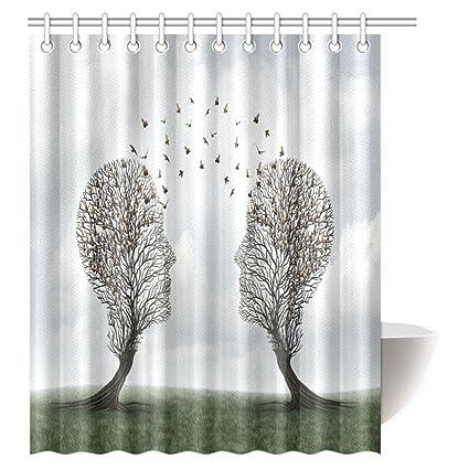 Amazon INTERESTPRINT Artsy Shower Curtain Bathroom Decor Head