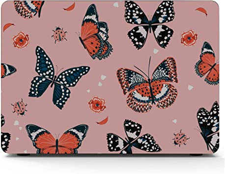 MacBook Pro 2018 Accessories Spring Cute Butterfly Bee Flower Plastic Hard Shell Compatible Mac Air 11 Pro 13 15 MacBook Pro Laptop Cover Protection for MacBook 2016-2019 Version