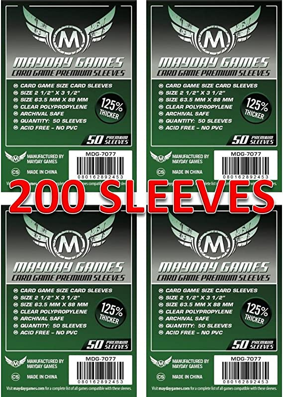 Mayday Games 7077 Clear Premium Card Sleeves 63.5x88 mm (4x50 Pack