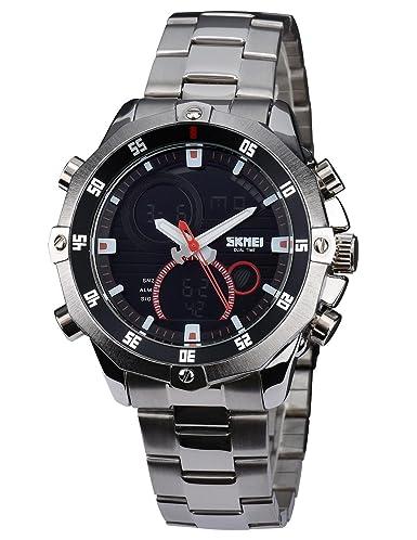 Zeiger - Reloj de pulsera analógico deportivo digital 3D para exteriores de hombre con correa de silicona Time Force: Amazon.es: Relojes