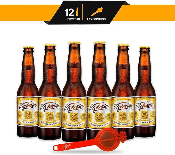 Pack 12 Botellas Cerveza Victoria 1 Exprimidor de limones