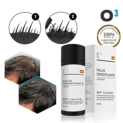 O³ Fibras Capilares Negro 27,5 Gramos Para Caida Del Cabello – Keratin Fibers 100