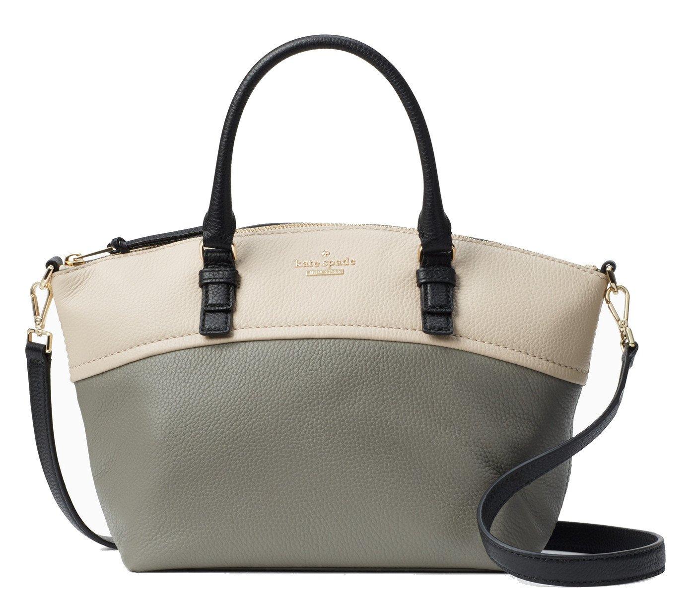 Kate Spade New York Jackson Street Small Dixon Leather Bag , Willow Soft Porcelain Black Multi