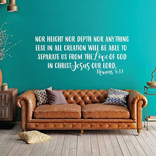 Amazon.com: Scripture Wall Art - Nor Height Nor Depth Can Separate ...