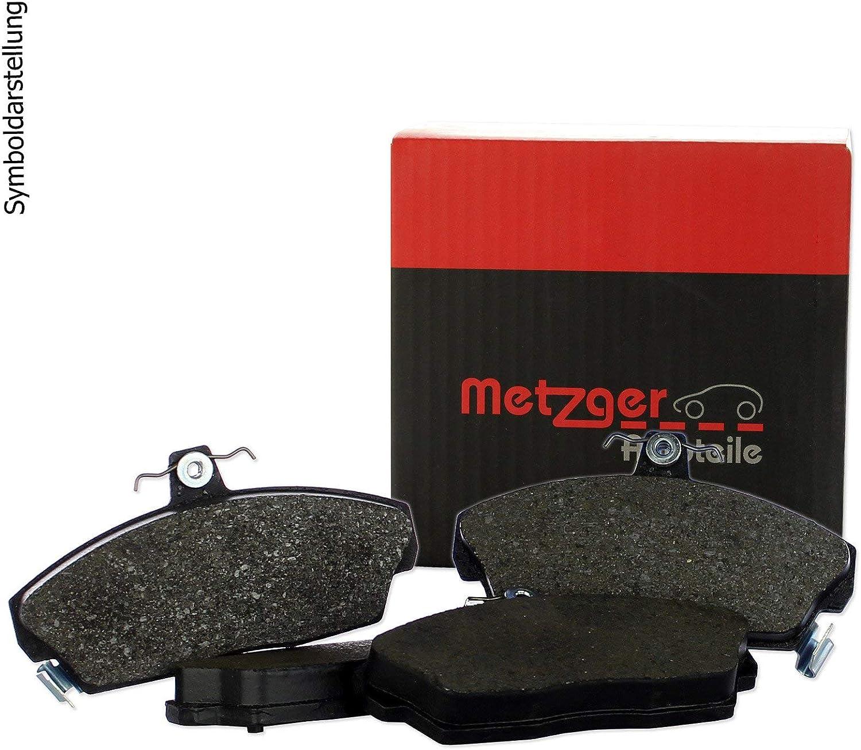 Original Metzger Bremsscheiben vorne Bremsenreiniger Metzger Bremsbel/äge Bremskl/ötze Bremsenset Bremsenkit Komplettset Vorderachse