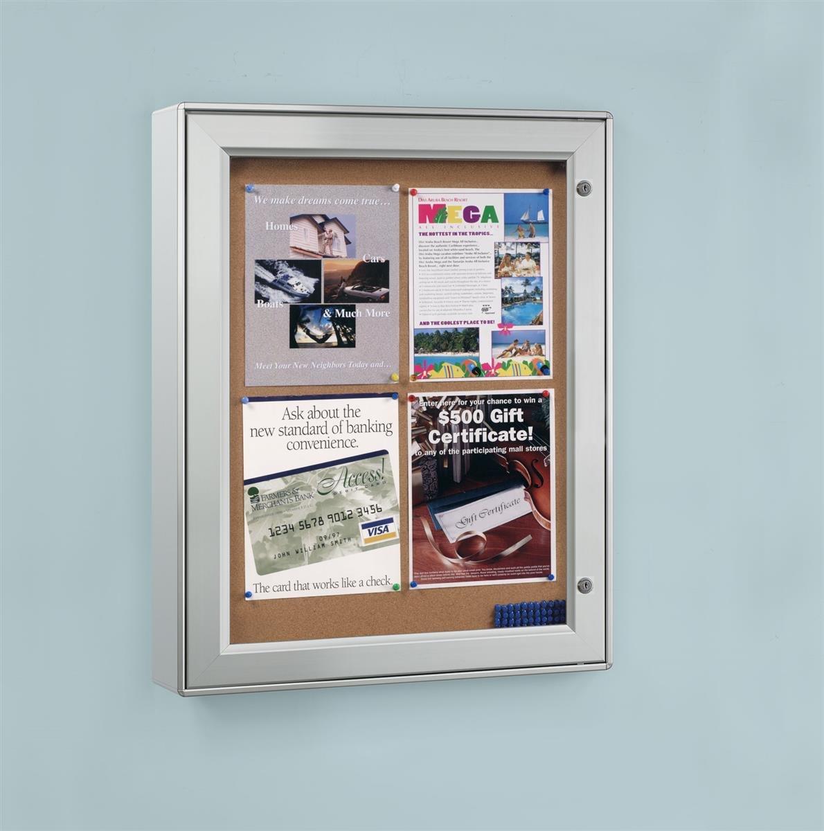 Displays2go ODNBCB4A4 Wall-Mounted Enclosed Bulletin Board