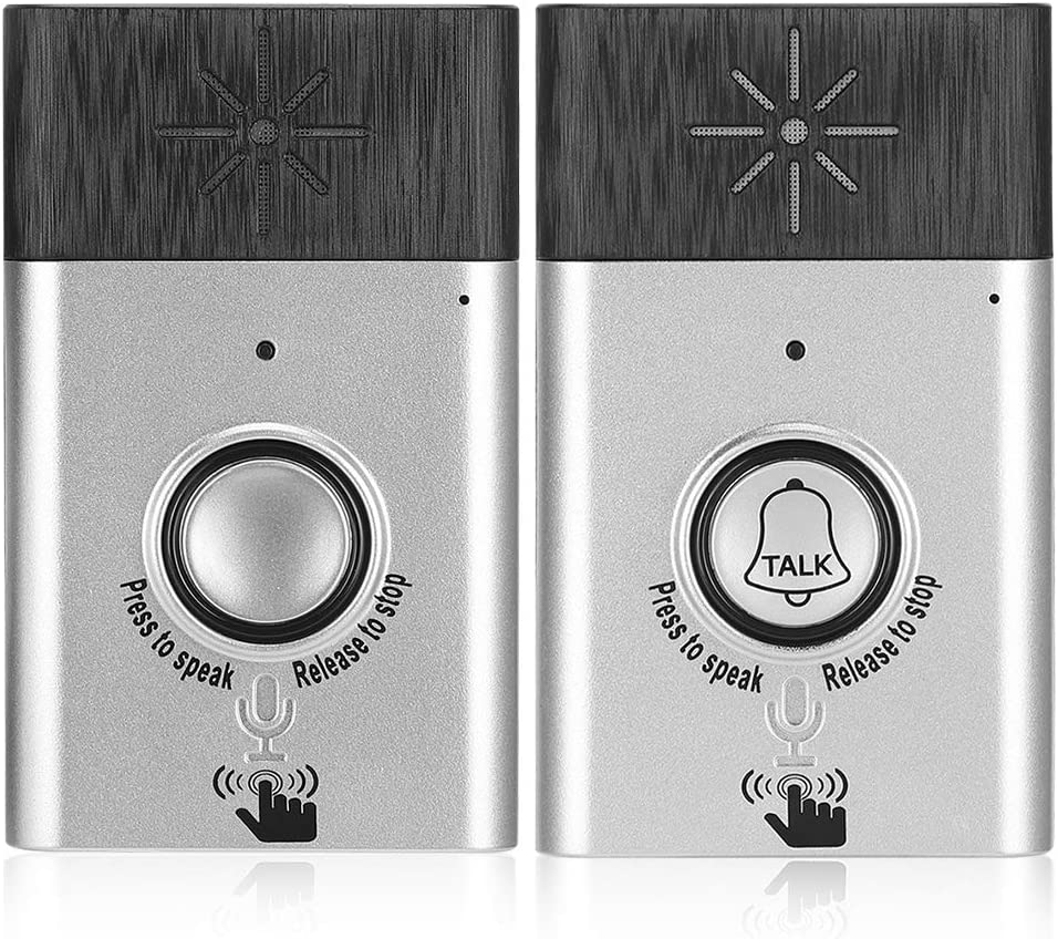 Tosuny Wireless Voice 2-Way Intercom Doorbell with Built-in Speaker, Home Security Access Control System with 6 Months Long Standby time, Door Chime