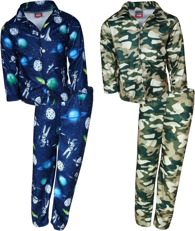 B07G9T4T7D Mac Henry Boys Plaid Flannel Pajama Sleepwear Sets (2 Full Sets) 71ILkeFIo4L