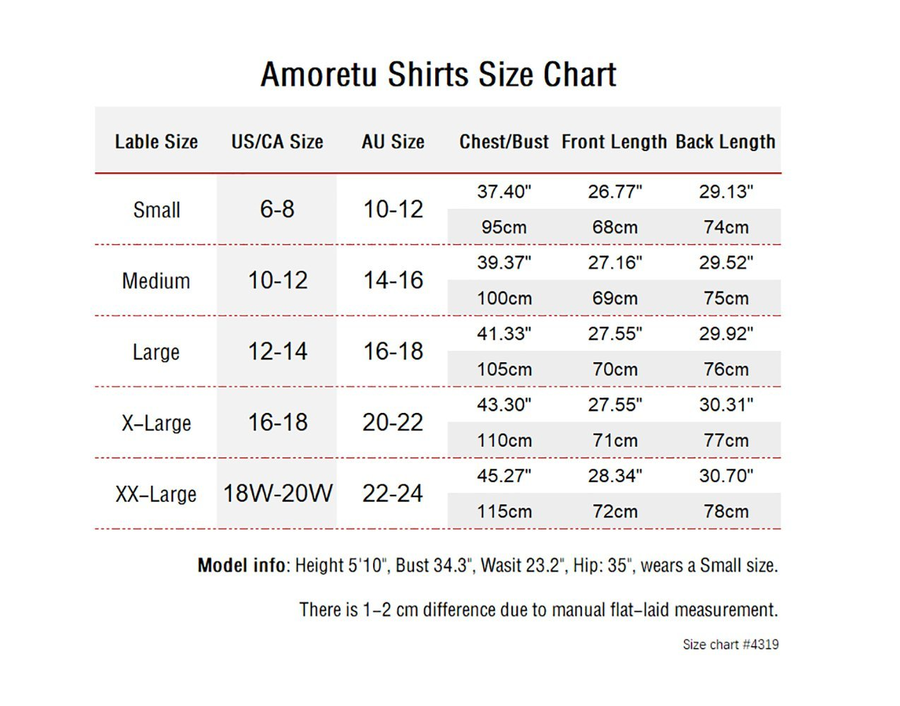 Amoretu Casual V-Neck Short Sleeve Shirts Cotton High Low Tops for Women with Slit (Black, M) by Amoretu (Image #4)