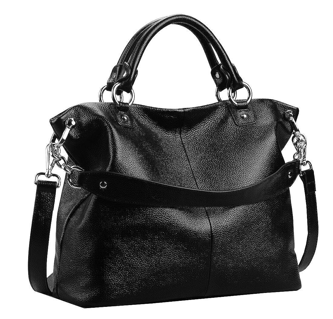 2b40d3394d87 Heshe womens leather shoulder handbags tote double handle bag ladies jpg  1100x1053 Soft leather handbags purses