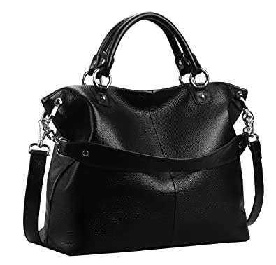 65cb3dfa498a Heshe Womens Leather Shoulder Handbags Tote Double Handle Bag Ladies Purses  Designer Satchel Bags Crossbody Bag