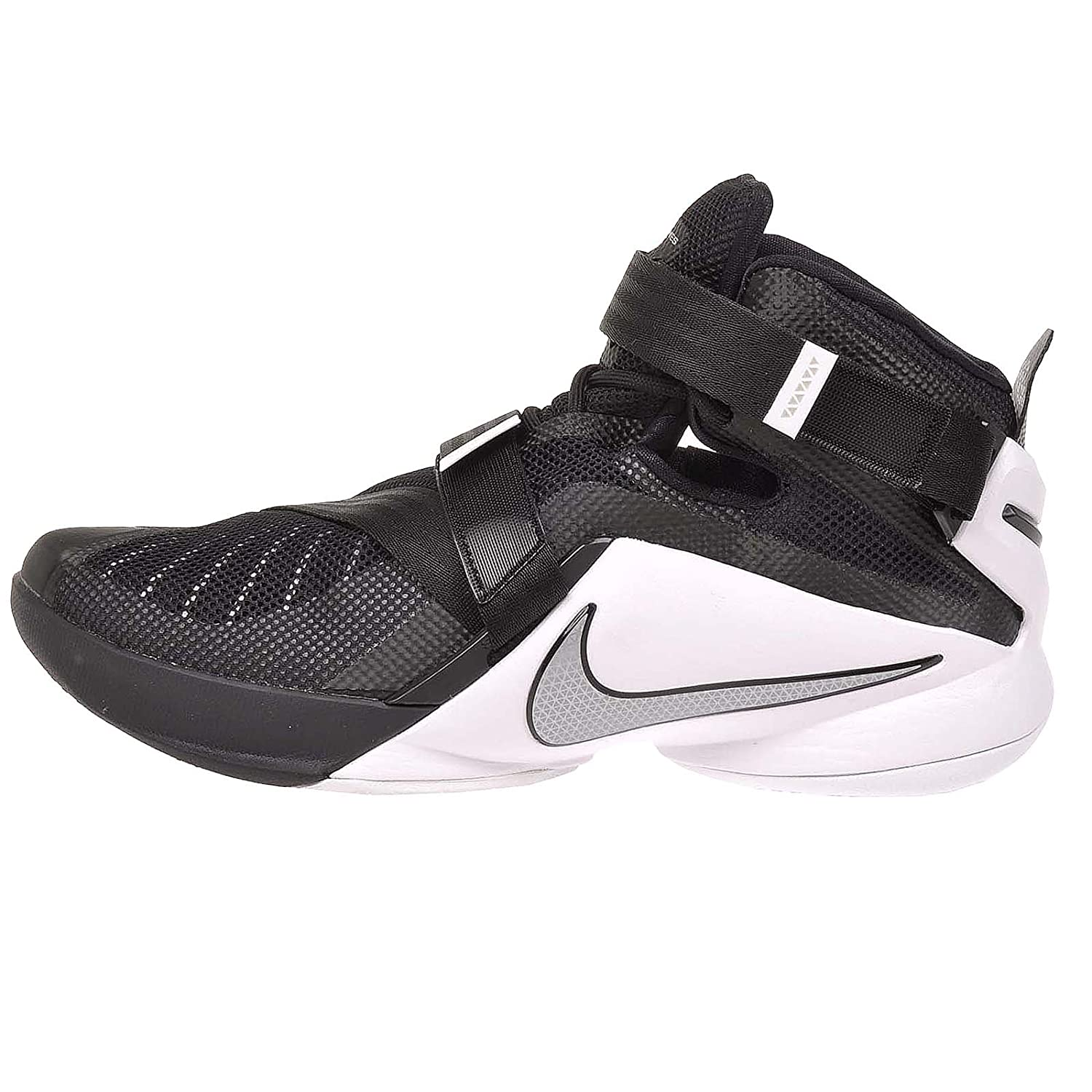 pretty nice f7e64 38a30 Nike Men's Lebron Soldier IX Team Basketball Shoe  Black/White/Anthracite/Silver Size 11 M US