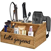 Hair Tools and Styling Organizer, Rustic Hair Dryer Holder, Bathroom Supplies Countertop Storage Stand and Vanity Caddy…