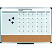 MasterVision 3-In-1 Calendar Dry Erase Planning Board