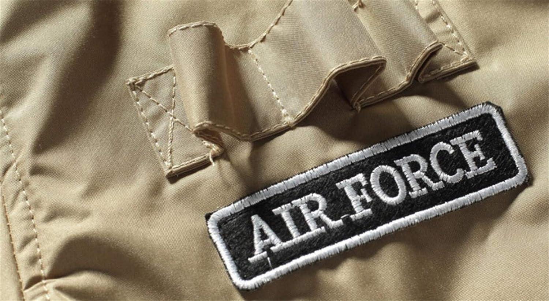 Frieed Mens Ma-1 Flight Bomber Fleece Linen Warm Baseball Down Jacket Coat