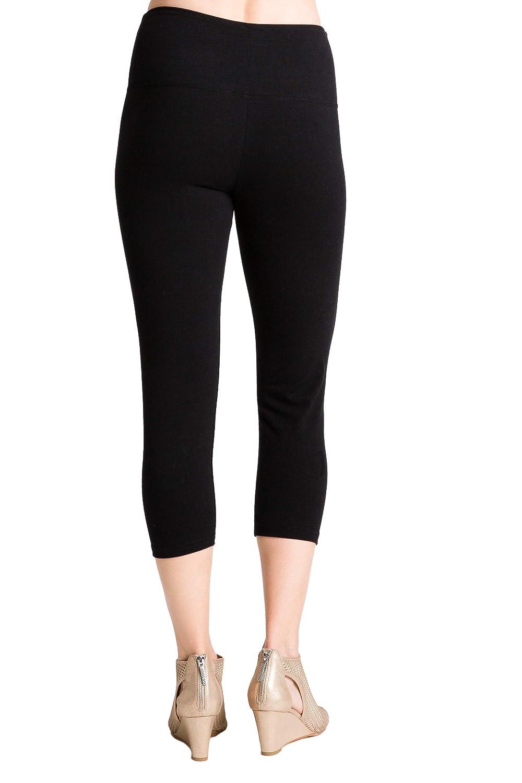 Intro Tummy Control High Waist Legging Pull-On Cotton Spandx Legging Heather Grey Size Medium