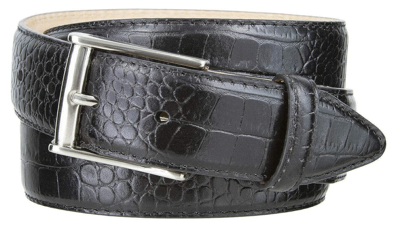 "J2 Mens Genuine Leather Italian Calfskin Designer Dress Belt 1-3//8/"" Wide"