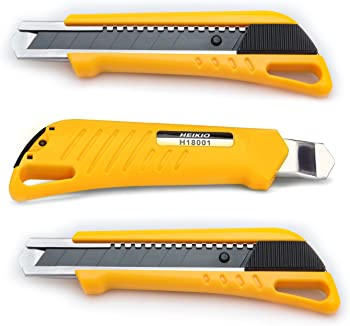 3-Pack Heikio Retractable Utility Knife