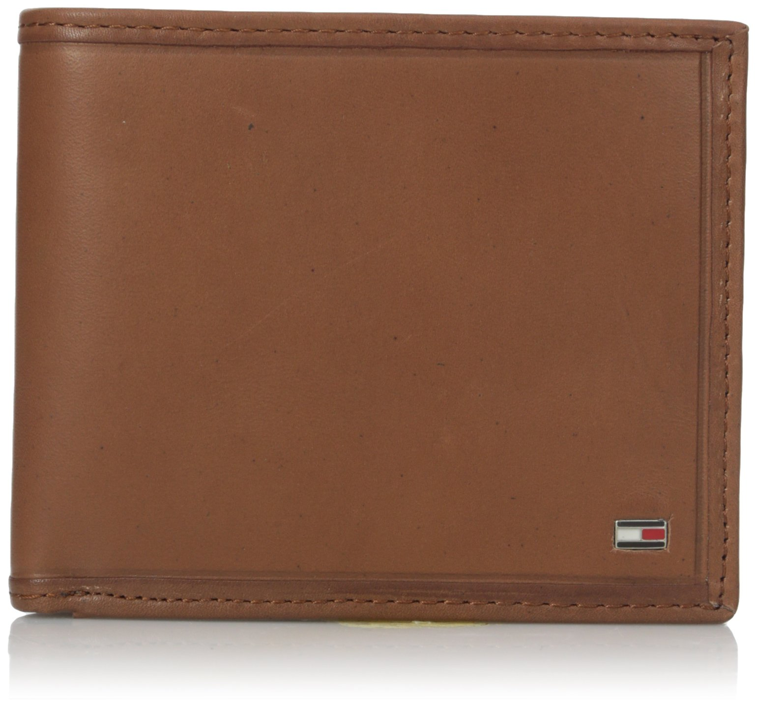 Tommy Hilfiger Men's Leather Wallet - Bifold Trifold Hybrid Flip Pocket Extra Capacity Casual Slim Thin for Travel,Sand by Tommy Hilfiger