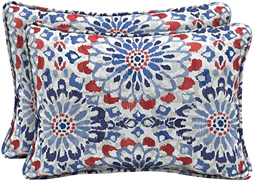 Arden Selections 22 x 15 Clark Oversized Lumbar Outdoor Throw Pillow 2-Pack