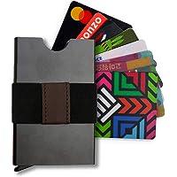 Billetera/Tarjetero Minimalista de Aluminio con bloqueo RFID y espacio para 7 tarjetas - Negro