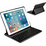 Inateck iPad Air 2,iPad Pro 9.7 Inch Keyboard Cover with Intelligent Switch and Multi-Angle Stand ,Black